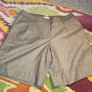Sz 16 Ann Taylor Loft  Brown Tweed Shorts
